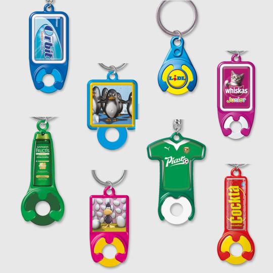 Porta-chaves com moeda