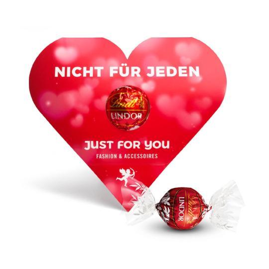Chocolate Lindt Lindor em caixa publicitária