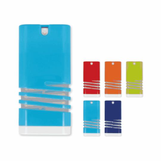 Spray antibacterial para mãos com design moderno e elegante