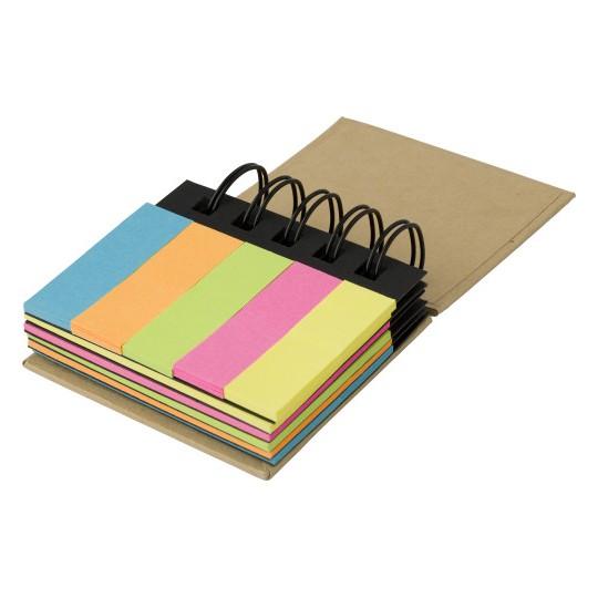 Bloco de notas adesivas com espiral