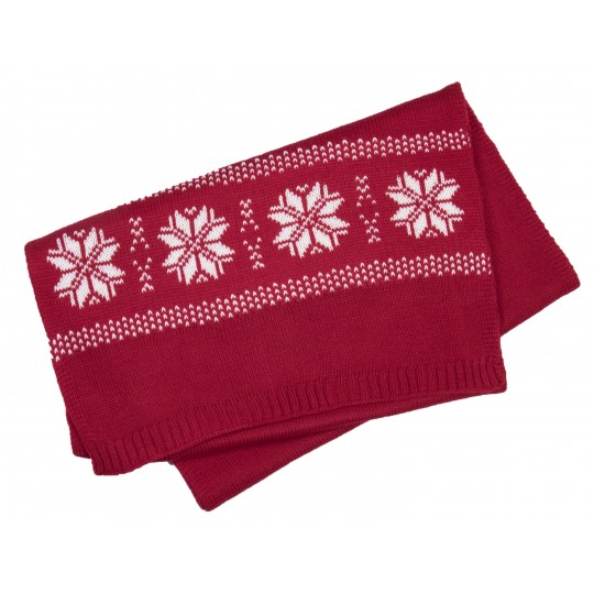 Cachecol tricotado, motivo estrela K-up®