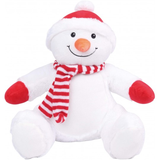 Boneco de neve de peluche com fecho