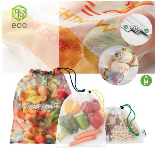 Bolsas reutilizáveis para frutas e verduras