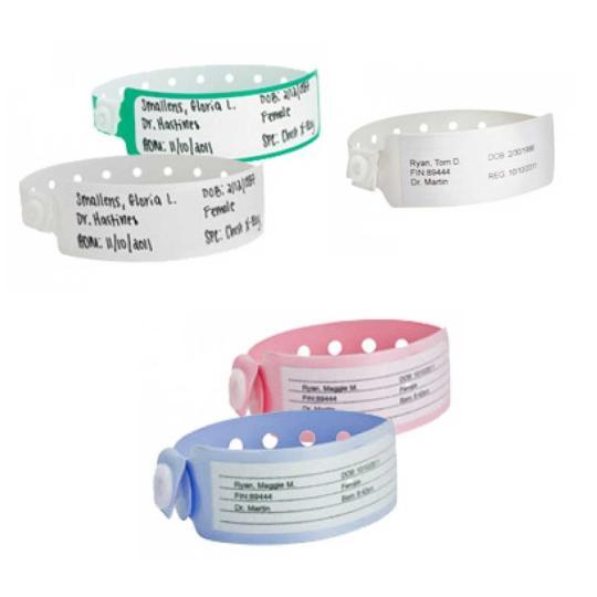 Pulseiras de vinil hospitalar