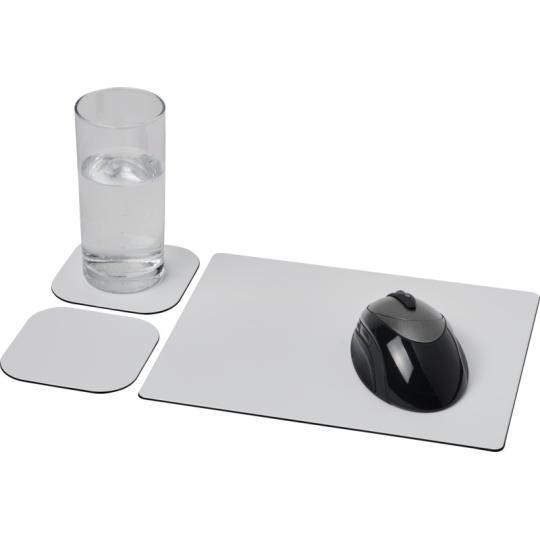 Conjunto de tapete para rato e base para copos Brite-Mat® 3
