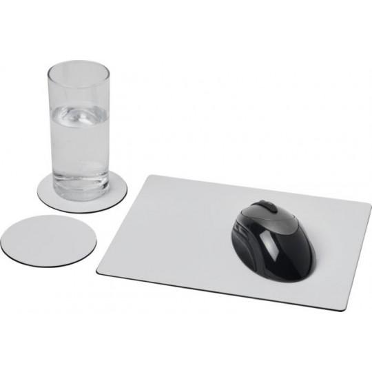 Conjunto de tapete para rato e base para copos Brite-Mat® 2