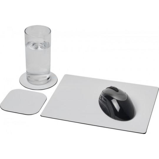 Conjunto de tapete para rato e base para copos Brite-Mat®