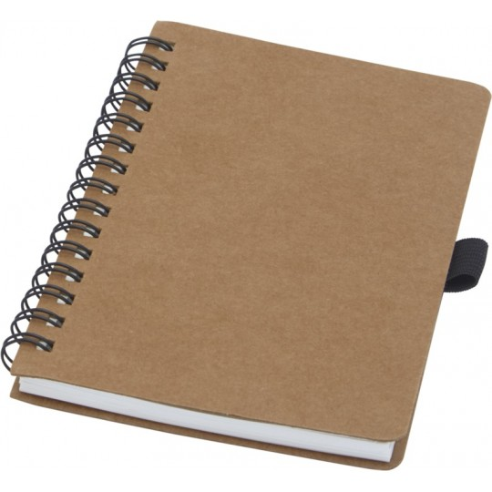 Caderno de argolas A6 em cartão reciclado com papel de pedra Cobble