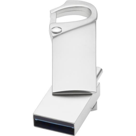 USB tipo C com mosquetão