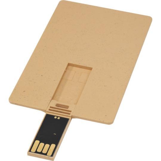 USB retangular biodegradável em forma de cartão de crédito
