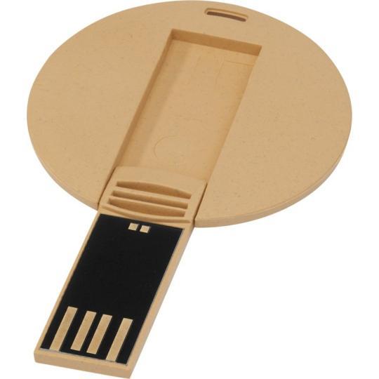 USB redondo biodegradável