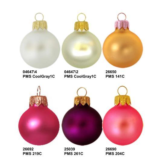 Bolas de Natal cor efeito Mate