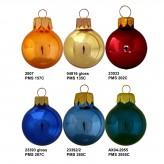Bolas de Natal cor brilhante