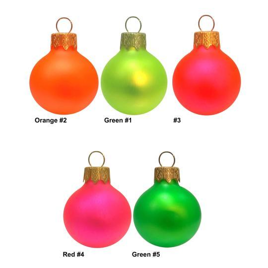 Bolas de natal cores fluorescentes