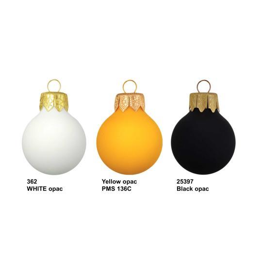Bolas de Natal efeito casca de ovo