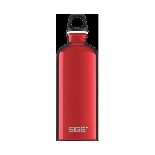 Garrafa de água vermelha para viajante 0,6l Sigg®