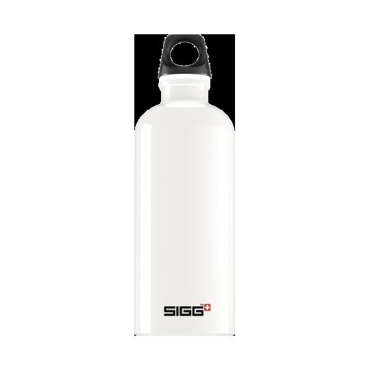 Garrafa de água branca para viajantes 0,6l Sigg®