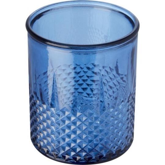 Suporte de vela tealight em vidro reciclado Estrel