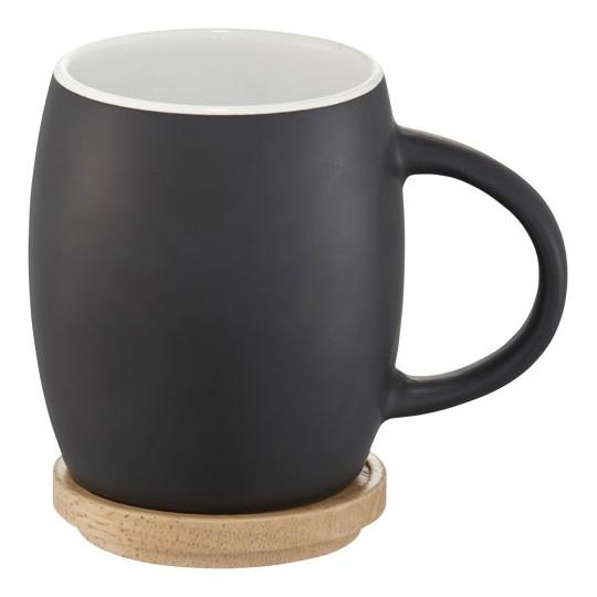 """Caneca de cerâmica com base ou tampa de madeira """"Hearth"""""""