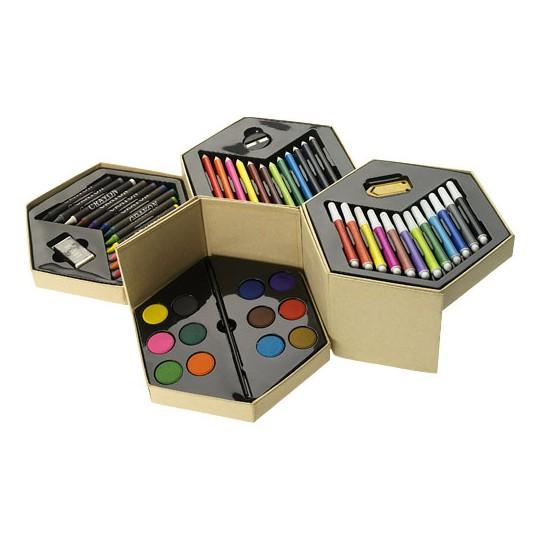 Conjunto de lápis de cor de 52 peças