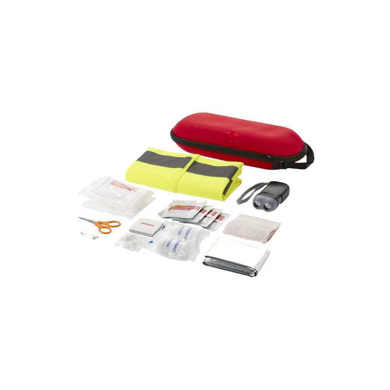 Conjunto de primeiros socorros com 46 peças e colete de segurança refletor Handies