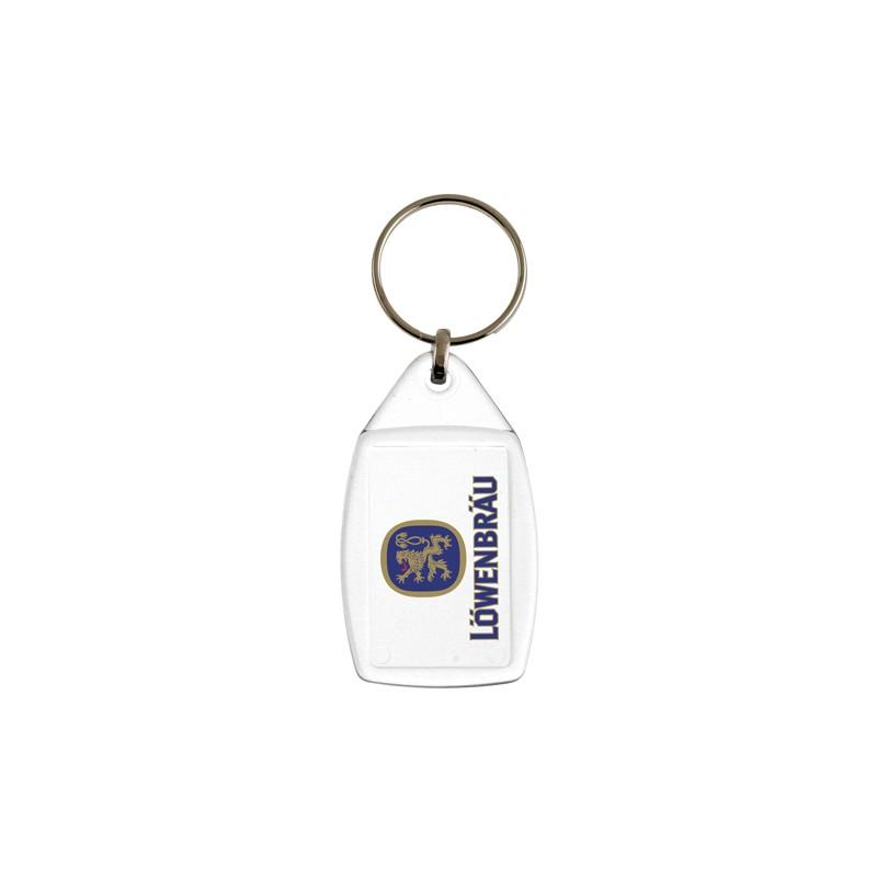 Porta-chaves acrílico retangular 2 faces