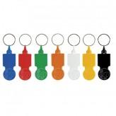 Porta-chaves de plástico com ficha 0,50 para carrinho