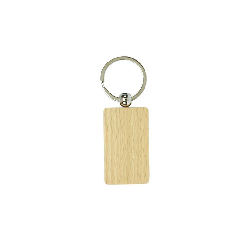 Porta-chaves retangular em madeira