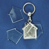 Porta-chaves de metal casa 2 faces