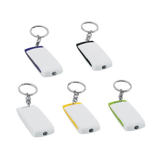 Porta-chaves de plástico com luz