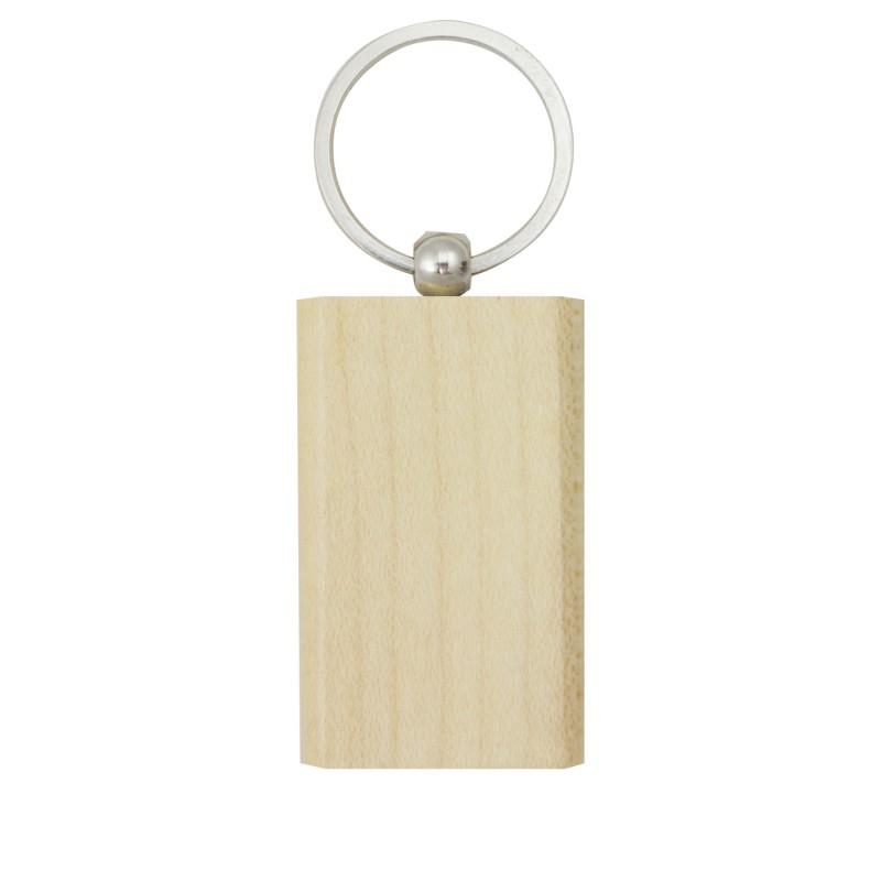 Porta-chaves rectangular em madeira