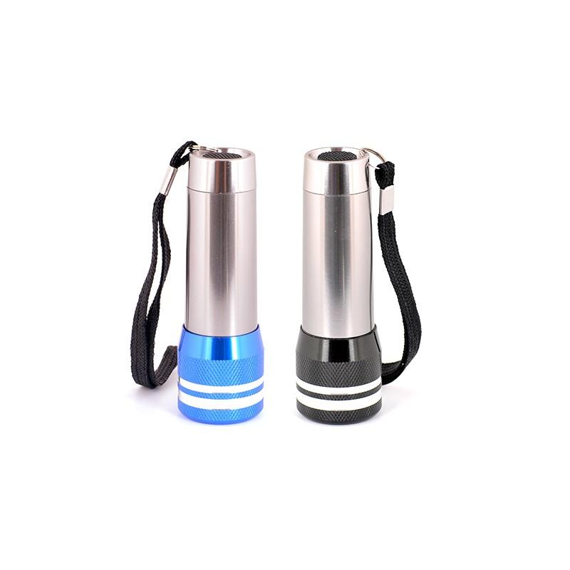 Lanterna de alumínio com 9 LEDS