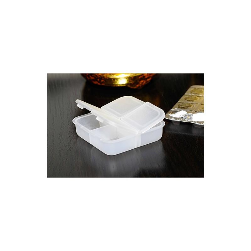 Caixa de comprimidos quadrada, 4 divisões
