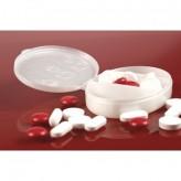 Caixa de comprimidos oval, 3 divisões