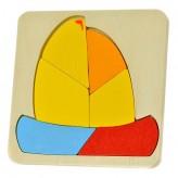 Puzzle de madeira barco