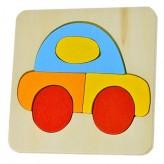 Puzzle de madeira carro
