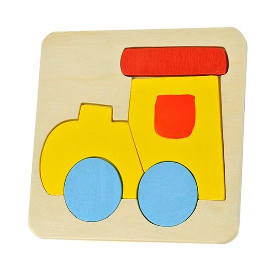 Puzzle de madeira comboio
