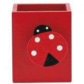 Porta-esferográficas com mola decorativa para notas
