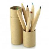 Conjunto de 6 lápis de cor em tubo