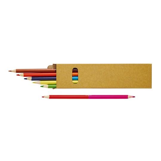 Lápis bicolor 12 cores