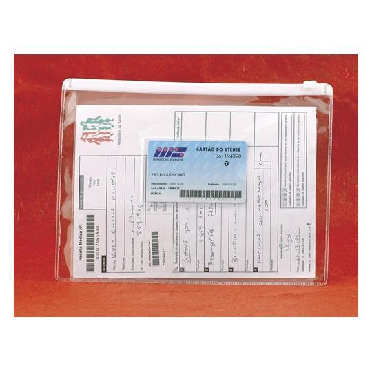 Pasta porta-documentos A5 com fecho em PVC
