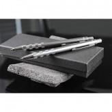 Conjunto de esferográfica e lapiseira de alumínio
