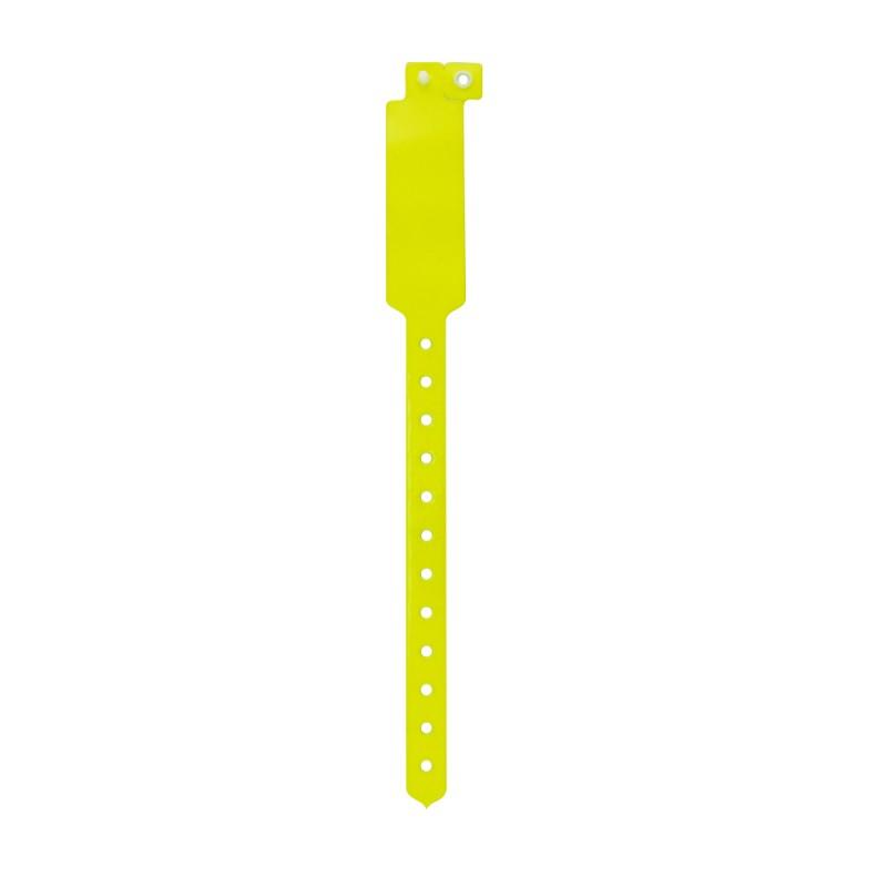 Pulseira de identificação inviolável fluorescente em vinil Darlen
