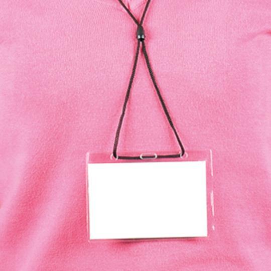 Identificador em PVC com fio de pescoço