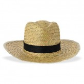 Chapéu para homem de palha escura