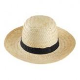 Chapéu para senhora de palha clara