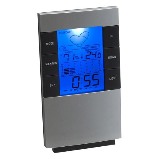 Relógio e estação meteorológica