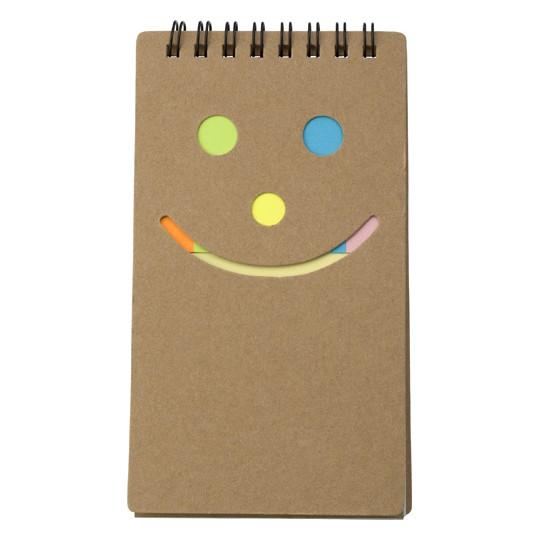 Bloco de notas com tiras adesivas