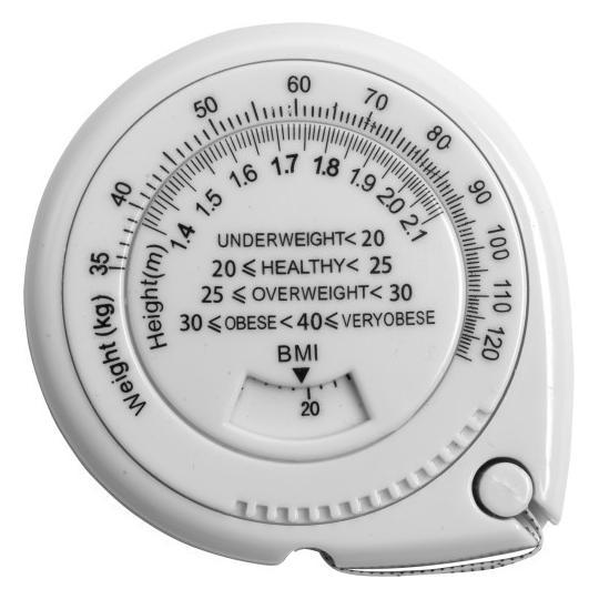 Fita métrica com índice corporal