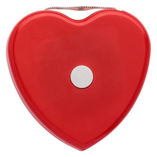 Fita métrica IMC em forma de coração